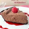 No-Bake Chocolate Silk Pie with Raspberry Sauce