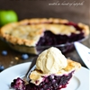 Blueberry Pie with a hint of apple