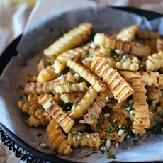Oven-Baked Crispy Truffled Fries