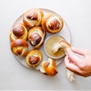 Soft Pretzel Knots w/Cheesy Mustard Dipping Sauce