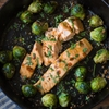 Sriracha & Lime Salmon w/ Garlic Roasted Brussel Sprouts