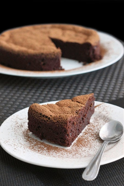 Four Ingredient Chocolate Mousse Cake