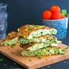 Frittata with Grated Zucchini, Goat Cheese and Dill