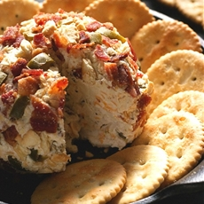 Jalapeno Popper Bacon Cheese Ball