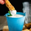 Ultimate Sesame Coconut Chicken Fingers with Minty Yogurt Dip