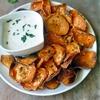 Sweet Potato Chips with Garlic Aioli