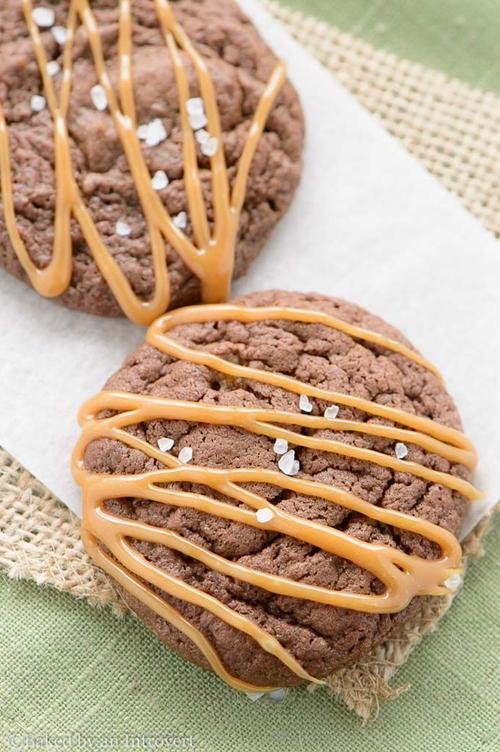 Salted Caramel Fudgy Brownie Cookies