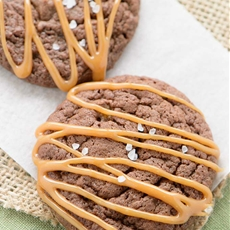 Salted Caramel Fudgy Brownie Cookies