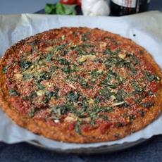 Roasted Garlic Sweet Potato Pizza Crust