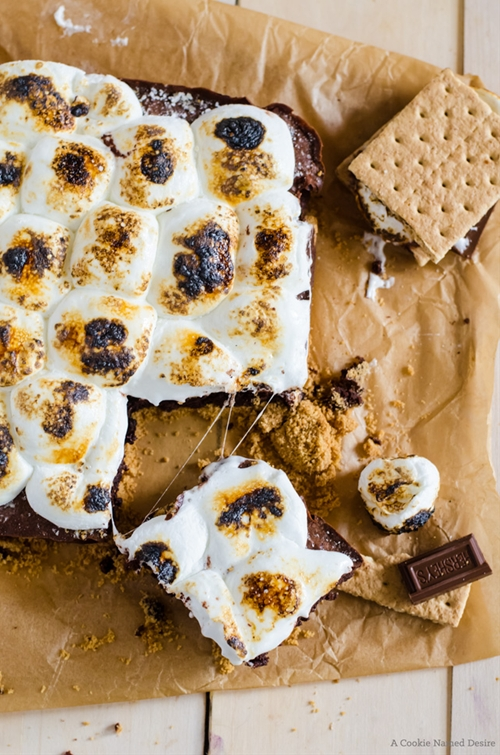Gooey, Fudgy Smores Brownies