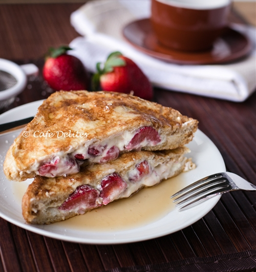 Strawberries n Cream French Toasts