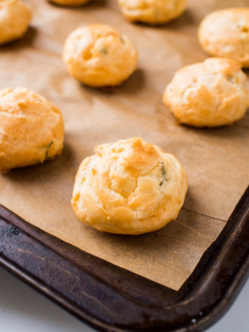 Herbed Gruyère Cheese Puffs (Gougères)