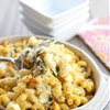 Artichoke and Spinach Macaroni and Cheese Casserole