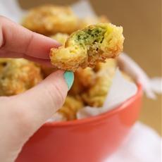 Cheesy fried tortellini