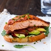 Open-Faced Salmon & Avocado BLTs