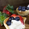 Cheesecake Bites in Sugar Cookie Cups