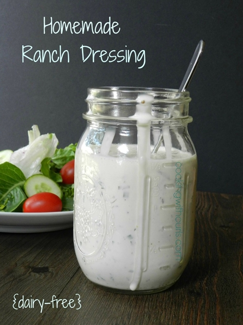Homemade Ranch Dressing {dairy-free} & substitutions