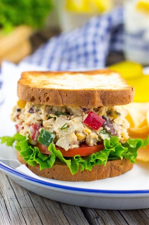 Greek Chickpea Salad Sandwiches {vegan}