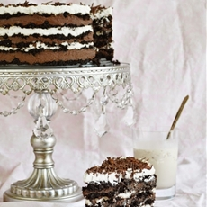 Black and White Russian Icebox Cake