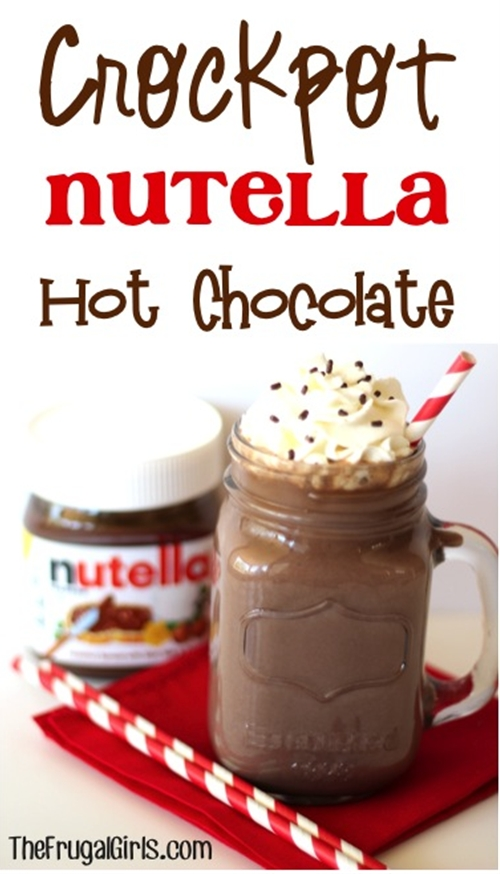 Crockpot Nutella Hot Chocolate