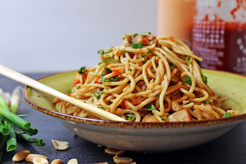 5 Ingredient Asian Peanut Noodles