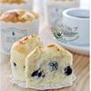 Blueberry Yoghurt Chiffon Cupcakes