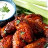 Sticky Buffalo Honey Hot Wings and Traditional Buffalo Hot Wings