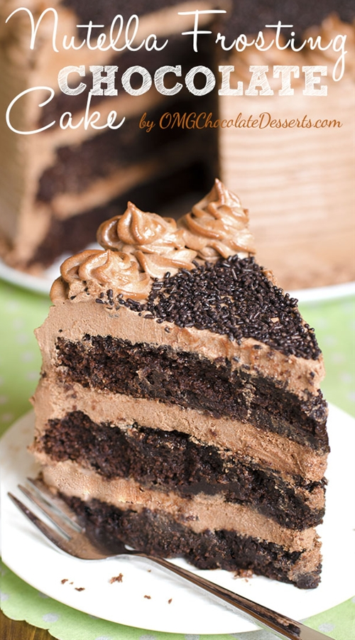 Decadent Nutella Chocolate Cake