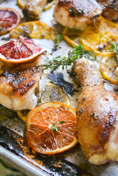 Roasted Chicken with Allspice and Citrus