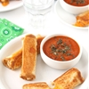 Grilled Cheese Roll Ups with Tomato Soup Dipping Sauce
