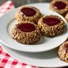Hazelnut Raspberry Thumbprint Cookies