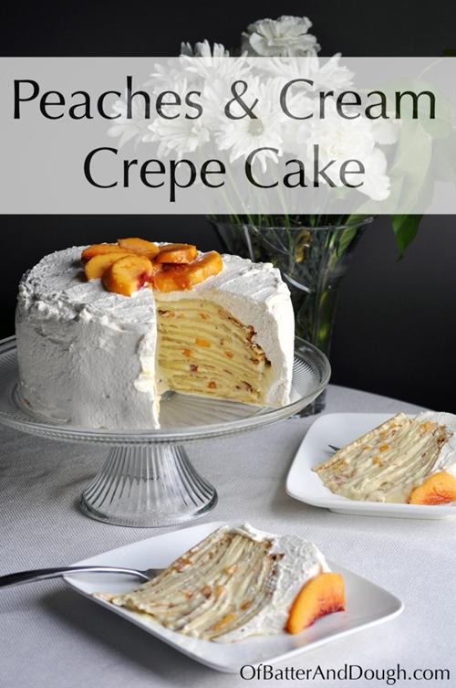 Peaches and Cream Crepe Cake