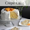 Peaches and Cream Crepe Cake