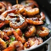 Honey Garlic Shrimp Skillet