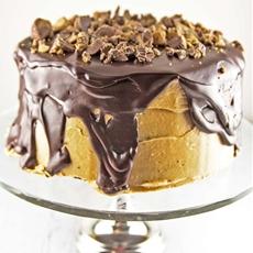 Peanut Butter Cup Ganche Cake