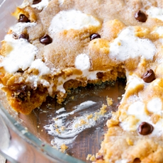 Smores Chocolate Chip Cookie Cake
