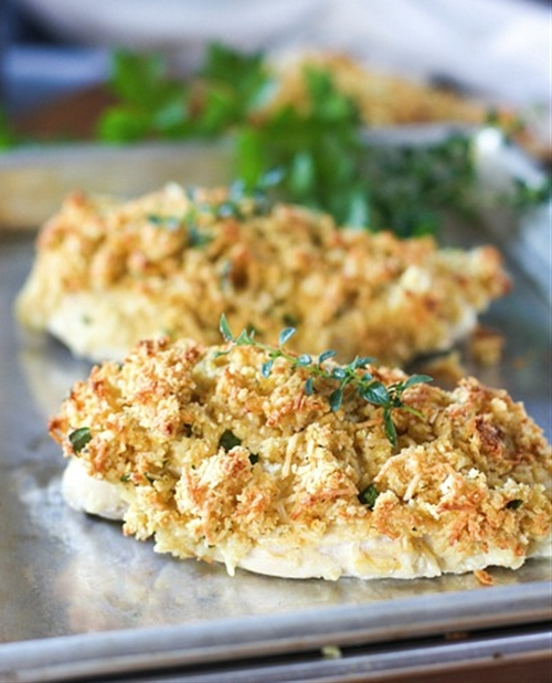 Baked Parmesan Dijon Crusted Chicken