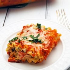 Farmers Market Lasagna Rolls