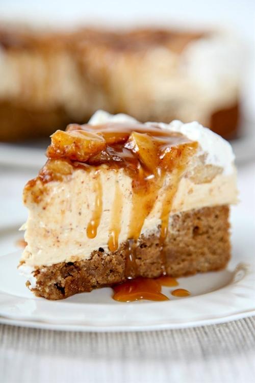 Homemade Caramel Apple Cheesecake