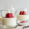 Vanilla Bean Panna Cotta with Raspberry Pink Peppercorn Coulis