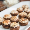 Bacon, Goat Cheese and Caramelized Onion Stuffed Mushrooms