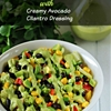 Black Bean Salad with Creamy Avocado Cilantro Dressing
