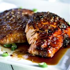 Caramelized Garlic & Miso Salmon