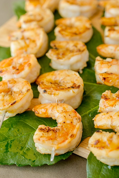 Grilled shrimp with ginger lemon dipping sauce recipe ...