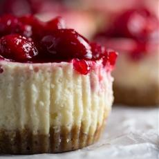 Cranberry Sauce Mini Cheesecakes