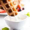 Waffled Churro French Toast Sticks