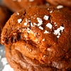 Salted Nutella-Stuffed Double Chocolate Cookies