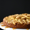Climbing Grier Mountain pumpkin apple cake with caramel sauce