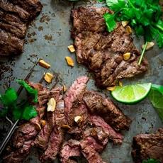 grilled thai coconut lime skirt steak