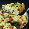 Cheesy Bacon Spinach Frittata